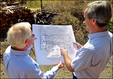 Rich Bower and Bob Rau, owners of Heritage Manor Homes LLC - North Jersey / Central Jersey Custom Builders